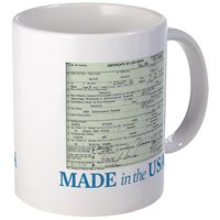 Barack Obama Made In The USA Birth Certificate Mug from - CafePress
