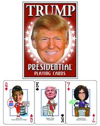 President Donald J Trump Presidential Playing Cards from - Parody Productions