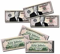 Trump Real Looking Play Money from - Creative Bills