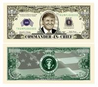 Donald Trump Novelty Presidential Million Dollar Bill from - American Art Classics