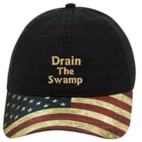 Trump Drain The Swamp US Flag Hat from - Sew Very Southern