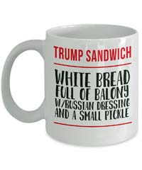 Trump sandwich anti-Trump Mug from - Green Tomato Gifts