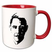 Usa President Barack Obama Red from - 3dRose