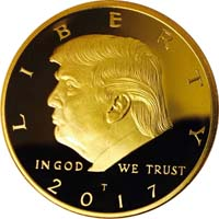 Donald Trump Gold Plated Collectable Coin - Case Included from - GOPBOX