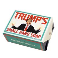 Trump's Small Hands Soap - 1 Mini Bar of Soap from - The Unemployed Philosophers Guild