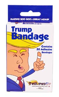 Donald Trump Novelty Bandages - Making Boo Boo's Great Again from - Fairly Odd Novelties