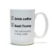 Anti-Trump Checklist Coffee Mug from - Misfit Mugs