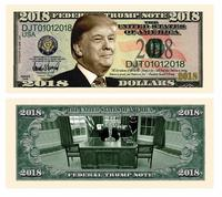 Donald Trump 2018 Presidential Dollar Bill from - American Art Classics