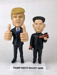 President Trump Meets Rocket Man Bobblehead Set  from - President Trump