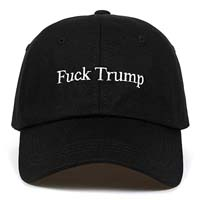 Fuck Trump Embroidered Unisex Adjustable Snapback Hat from - YAKER