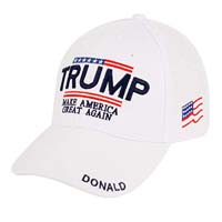 Trump with American Flag Baseball Cap from - W4W