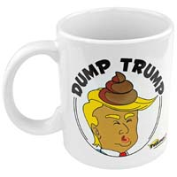DUMP TRUMP NOVELTY MUG from - Fairly Odd Novelties