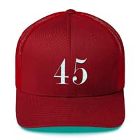 Donald Trump 45 President The USA Trucker Cap from - Trump P45 Apparel & Accessories
