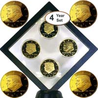 Donald Trump 4-Year Gold Coin Set, 45th Presidential Collector's Edition from - eTradewinds