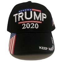 Trump 2020 - Keep America Great 3D Embroidery American Flag Cap  from - W4W