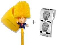 Donald Trump Toilet Brush and Trump Toilet Paper Bundle from - HomeFoundry