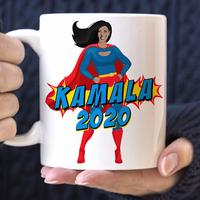 Kamala Harris 2020 Superhero Coffee Mug from - Foxy Mug