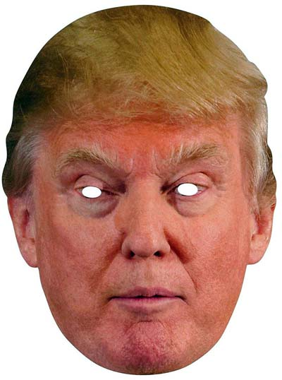 Donald Trump Adult Cardboard Costume Mask  from - Forum Novelties