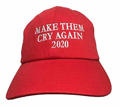 Make Them Cry Again 2020 Red Embroidered Ball Cap from - KNBC Graphics