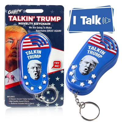 Talking Trump Keychain 6 Different Sayings in Donald's Real Voice from - Gagster
