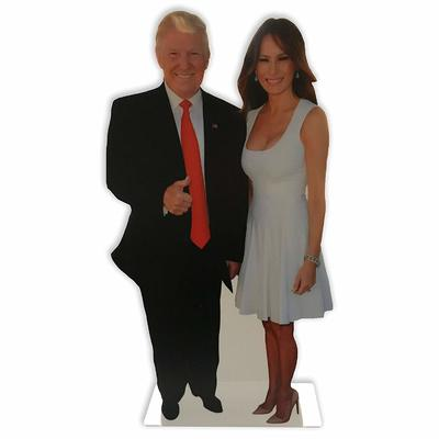 Donald and Melania Trump 12 INCH Desktop Legends Acrylic Statuette from - Wet Paint Printing Design