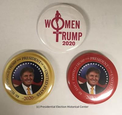 Donald Trump 2020 Campaign Buttons 3-Pack  from - Presidential Election Historical Center