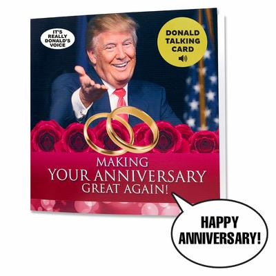 Talking Trump Anniversary Card from - OUR FRIENDLY FOREST
