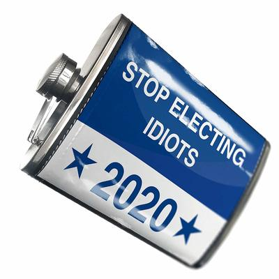 Stop Electing Idiots 2020 Hip Flask  from - NEONBLOND